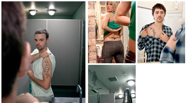 publicidade tatuagens criativo espelho