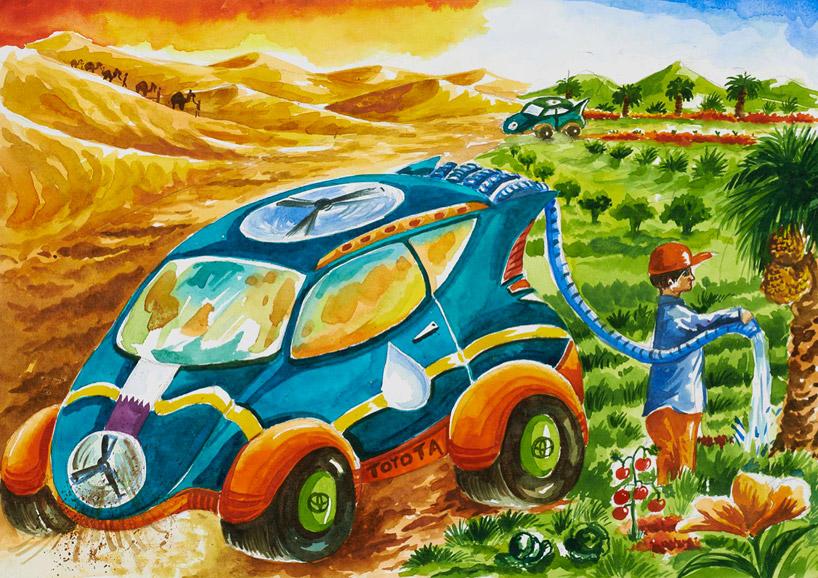 toyota-crianças-concurso-desenho-carro-futuro-humidade água