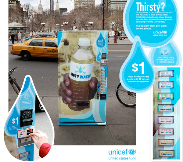 unicef guerrilla marketing água