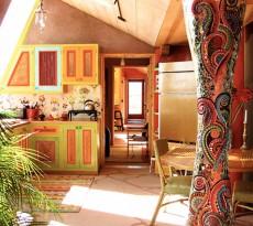 Earthships cozinha interiores decoração ecológica