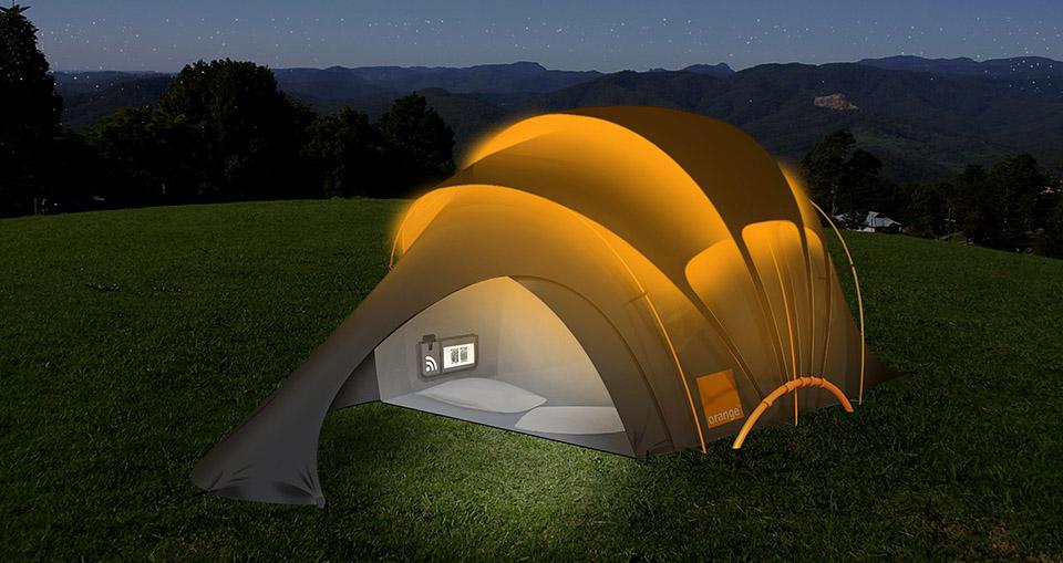 Orange-Solar-Tent-energia solar