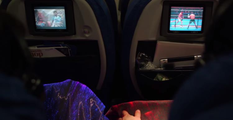 cobertor manta da felicidade avião
