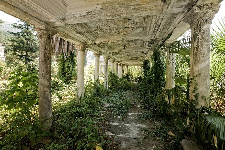 estação de comboios abandonada