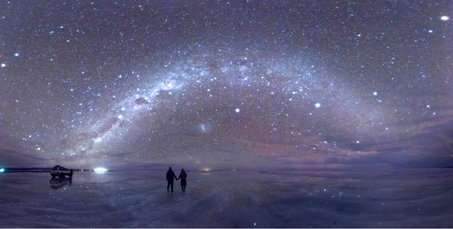 estrelas céu estrelado salina bolívia