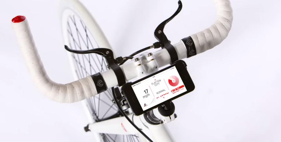 guiador bicicleta smartphone