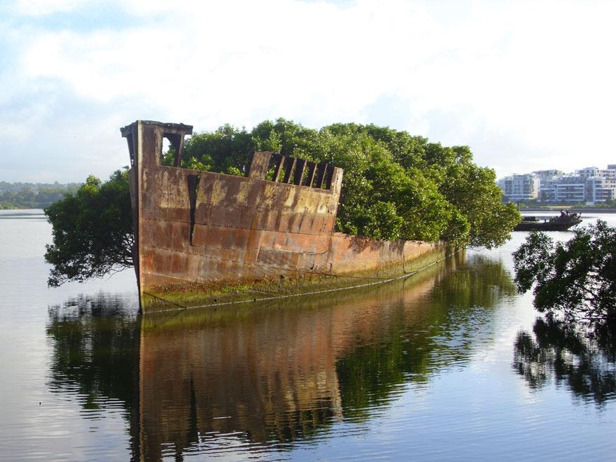 navio abandonado austrália