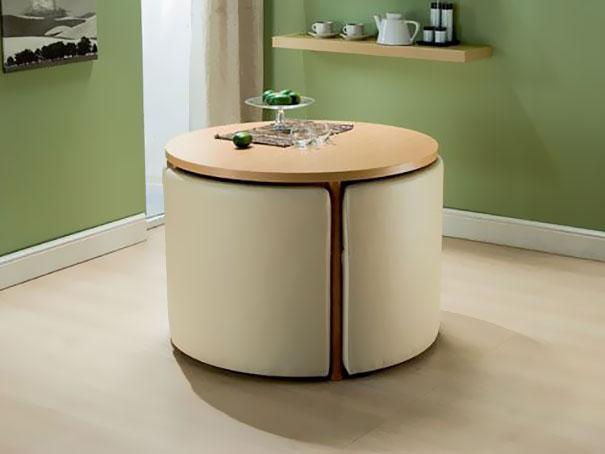 Ideias para poupar espaço em casas pequenas mesa de jantar