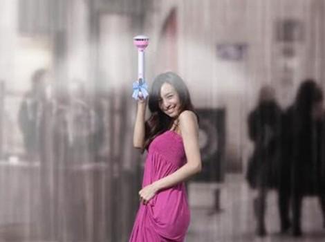 air umbrella chapéu de chuva invisível