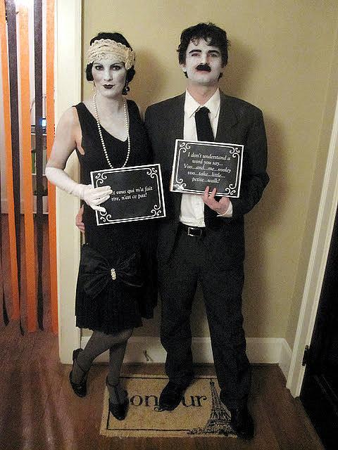 casal máscara filme mudo halloween carnaval