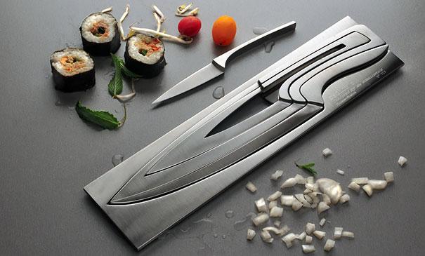 facas que encaixam espaços pequenos