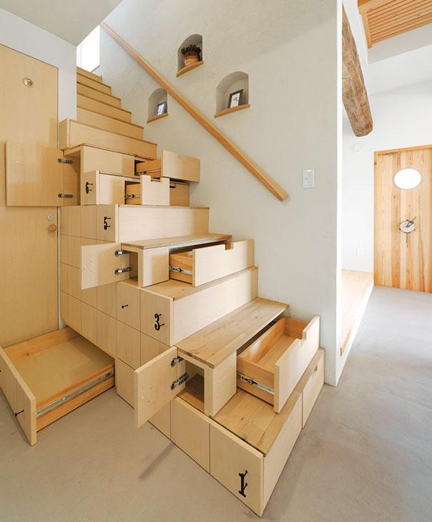 gavetas debaixo da escadaria