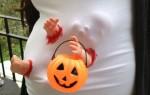 grávida halloween-máscara bebé zombie