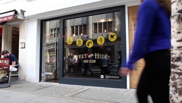 montra de loja interativa em londres hiut