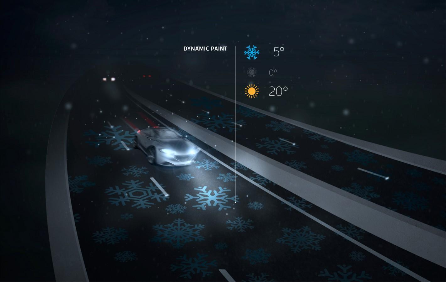 neve na estrada aviso interativo