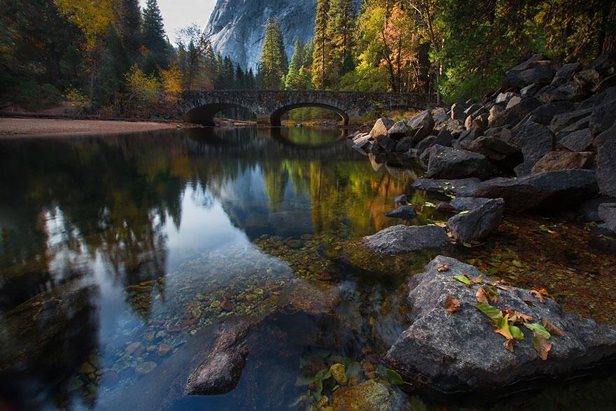ponte merced rio yosemite estados unidos america