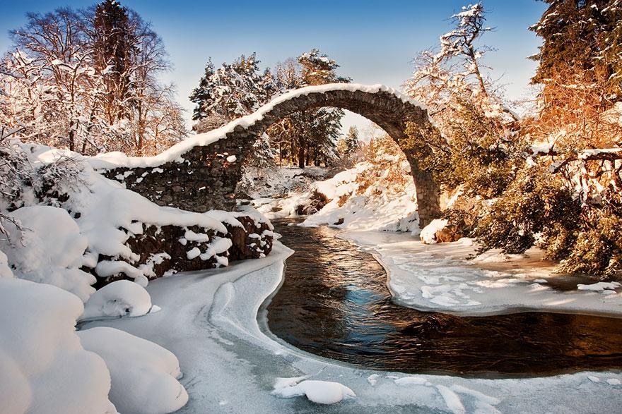 neve Escócia rio