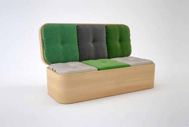 sofá que se transforma em mesa