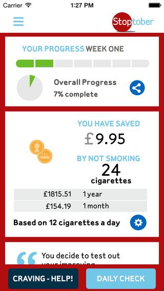 deixar de fumar - stoptober aplicação fumadores