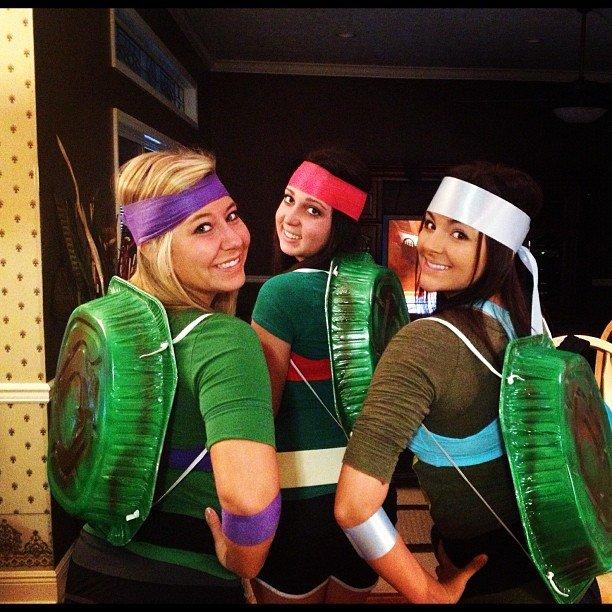 tartarugas ninja diy disfarce de grupo
