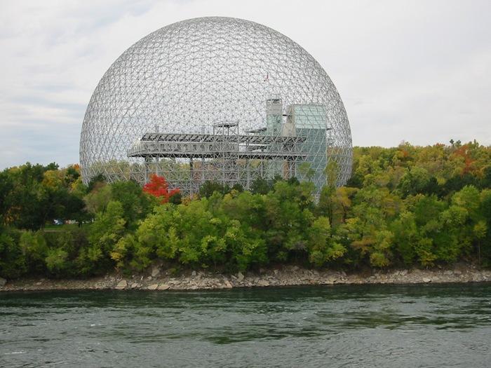 Biosfera de Montreal (Canadá) edifícios estranhos