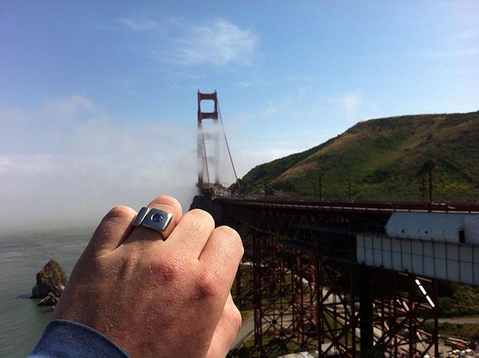 anel com diamante cinzas cremação