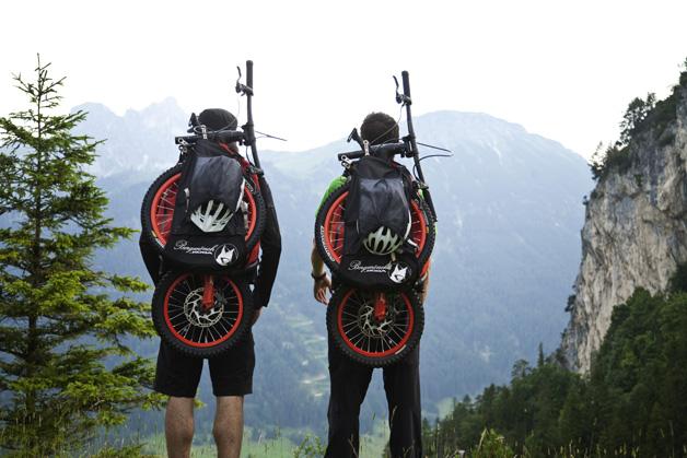 bicicleta dobrável mochila ciclismo downhill