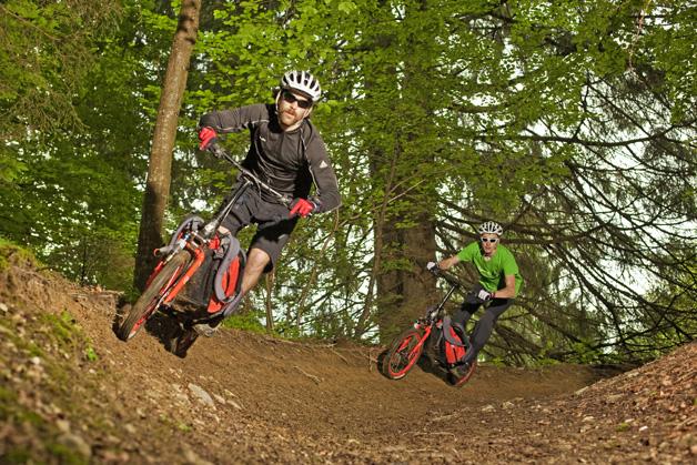 bicicleta dobrável bike-mochila downhill
