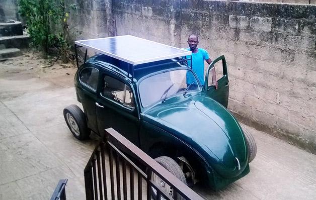 carro a energia solar e do vento