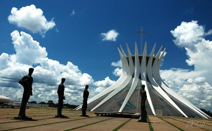 catedral de brasília brasil edifícios estranhos