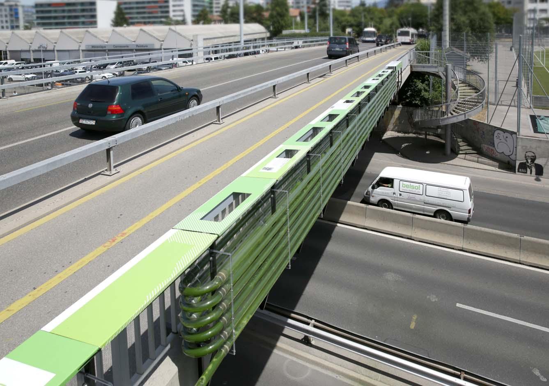 genebra ponte com algas