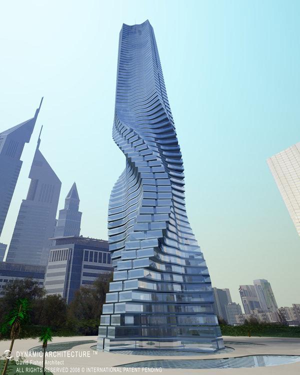 torre rotativa dubai eficífios estranhos