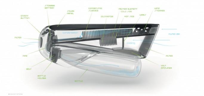 água a partir do ar fontus design