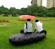 água da chuva - MARS-architects-water-bench-banco de jardim chuva