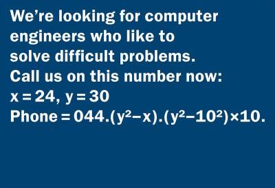 anuncio de emprego para programador