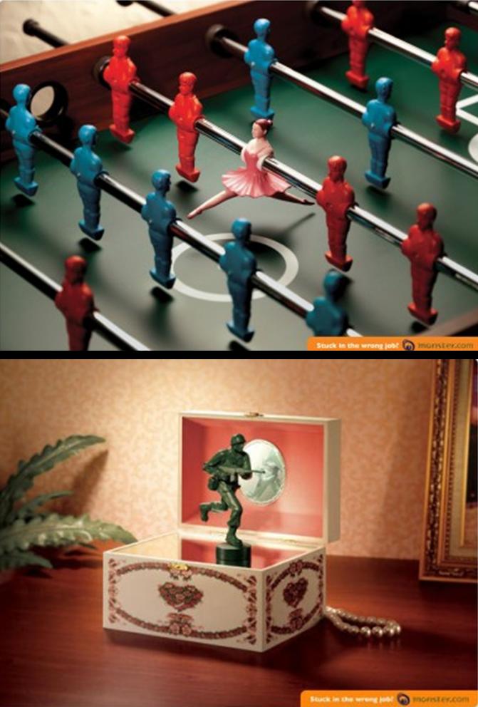 anuncio de trabalho criativo