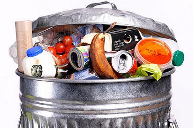 desperdício alimentar lixo comida