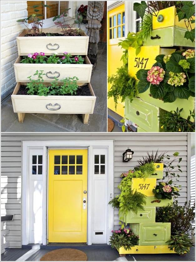 jardim gavetas moveis reciclados