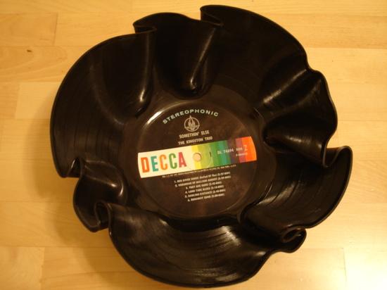 como fazer uma taça com um disco velho