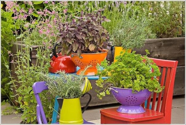 utensílios de cozinha vasos para plantas