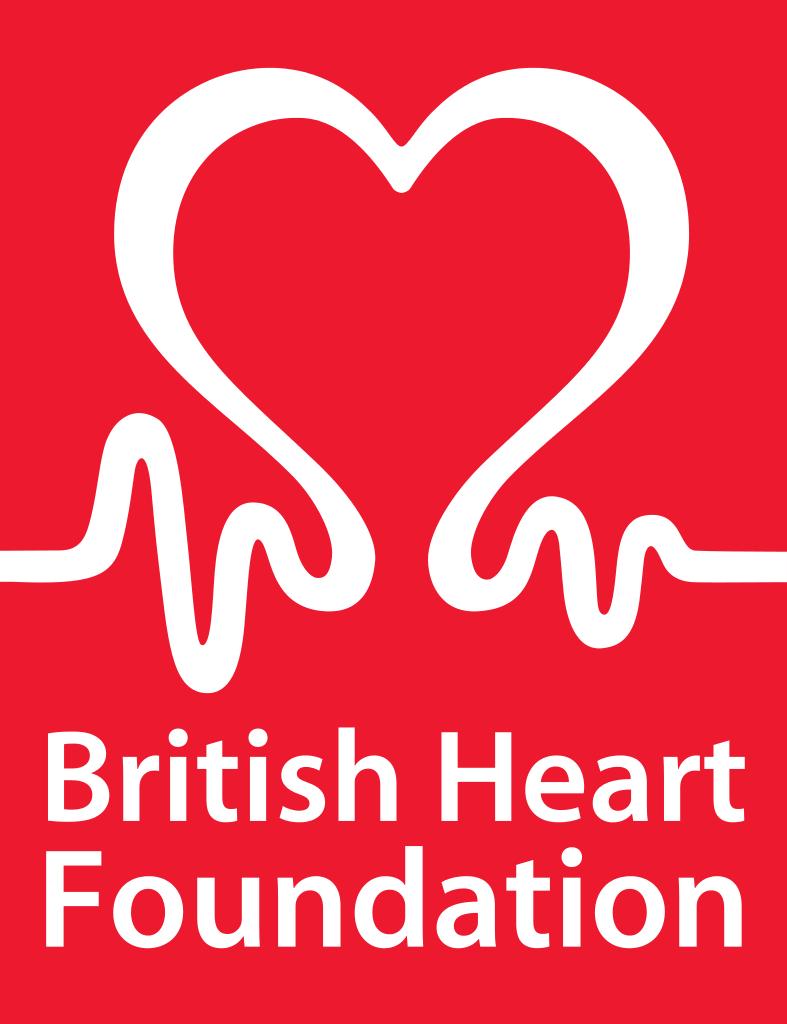 British_Heart_Foundation logotipo eletrocardiograma