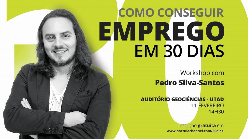 """cartaz workshop """"como conseguir emprego em 30 dias"""" - Vila Real"""