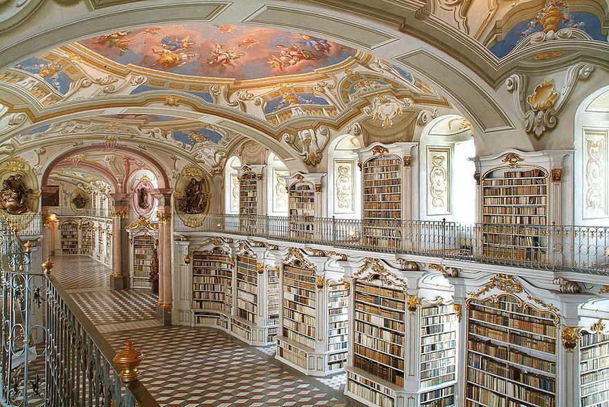 bibliotecas mais bonitas - admond biblioteca austria