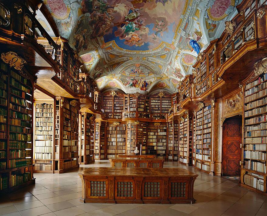bibliotecas mais bonitas - biblioteca mosteiro austria