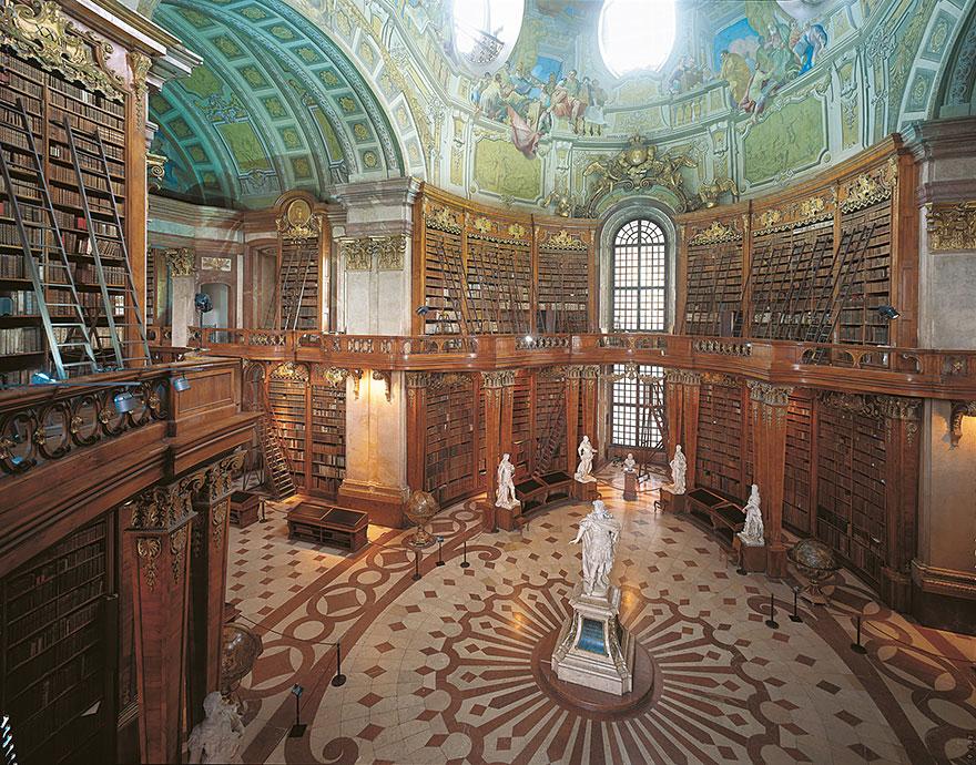 bibliotecas mais bonitas - biblioteca nacional austria viena