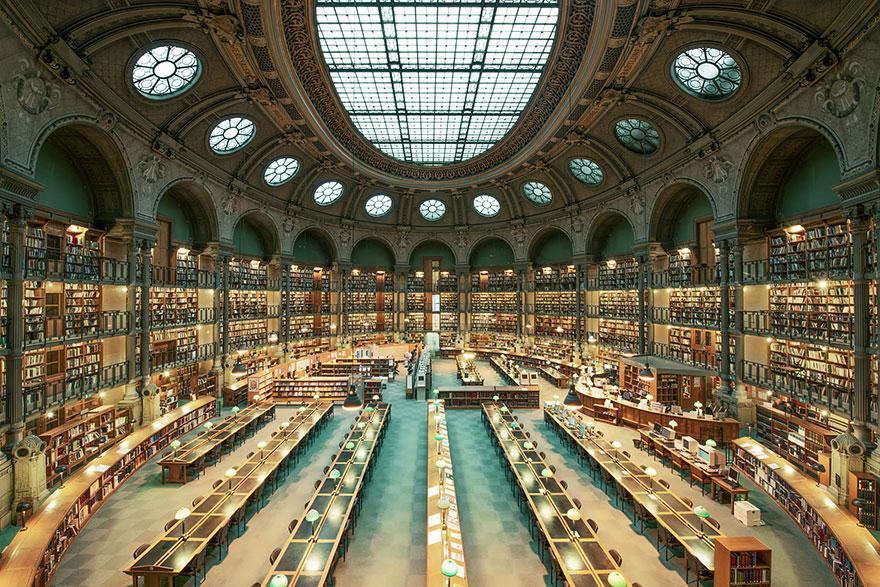 bibliotecas mais bonitas do mundo - biblioteca nacional frança paris