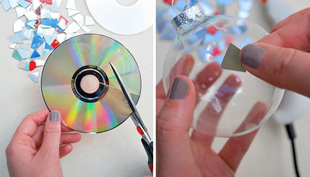 bolas de natal com cd usado
