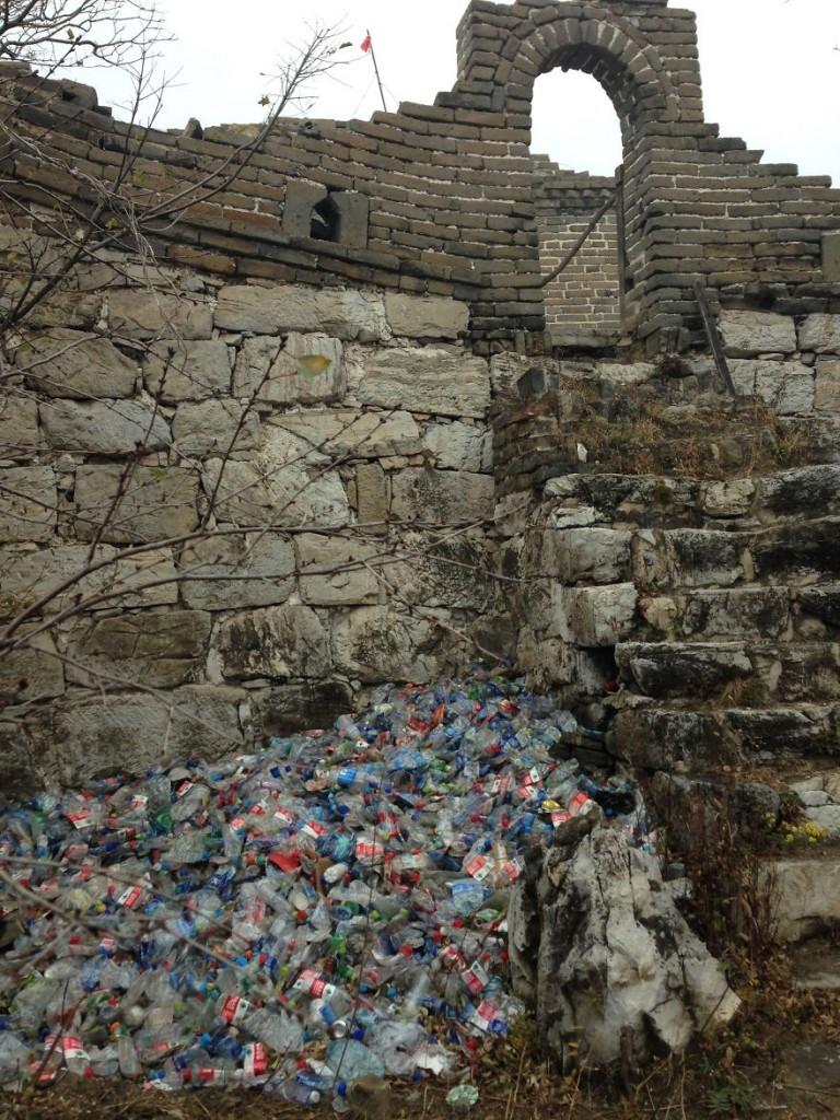 muralha da china lixo
