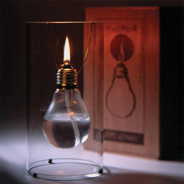 lâmpada fundida candeeiro