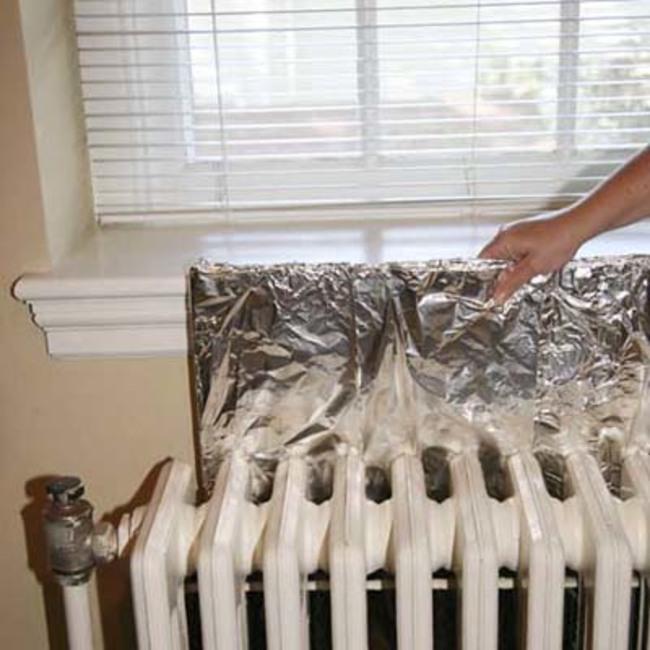 papel de alumínio aquecedor manter a casa quente