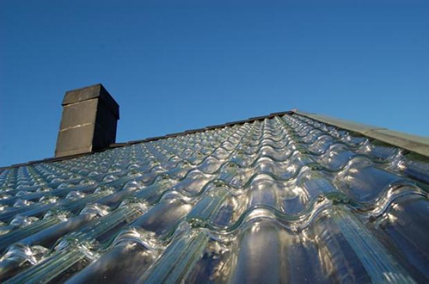 telhado de vidro aquece casa